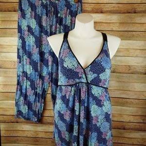 Nicole by nicole miller floral capri pajamas XL